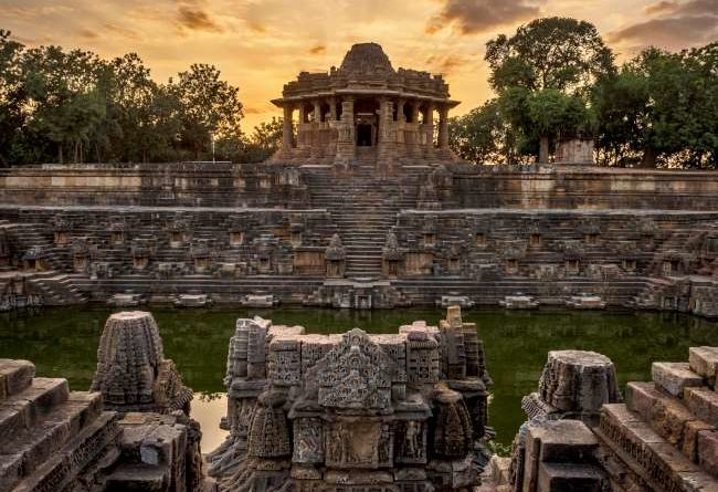 Modhera Soory Temple PM narendra modi shares beautiful video of conic sun temple in modhera