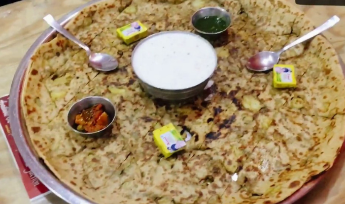 If you have the courage then complete the paratha challenge