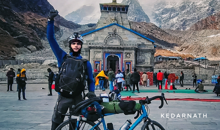 22 year old youth reached Kedarnath by bicycle